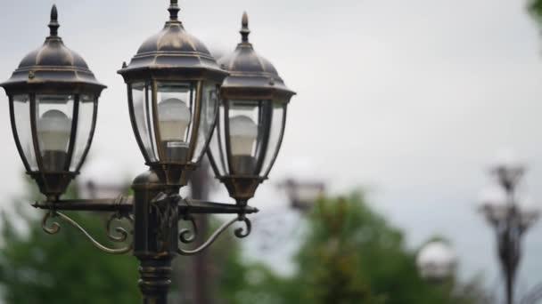 Vintage Lamp Post Street Road Light Pole