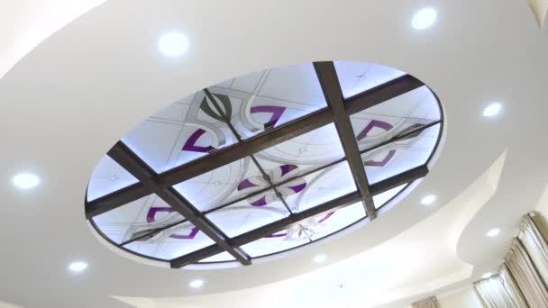 Plafoniere In Vimini : Decorazione di interni plafoniere cerchio u video stock