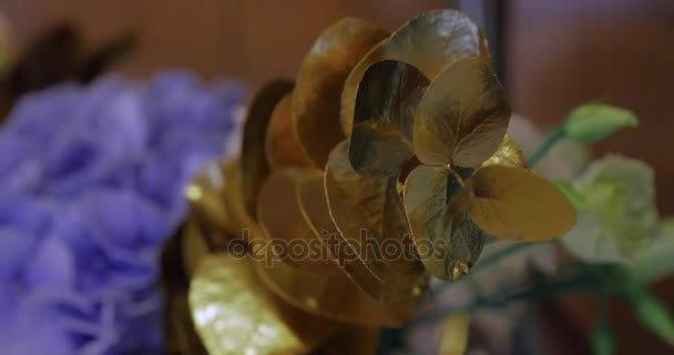 wedding table decoration with flowers, flower decoration wedding table, wedding florist. close up