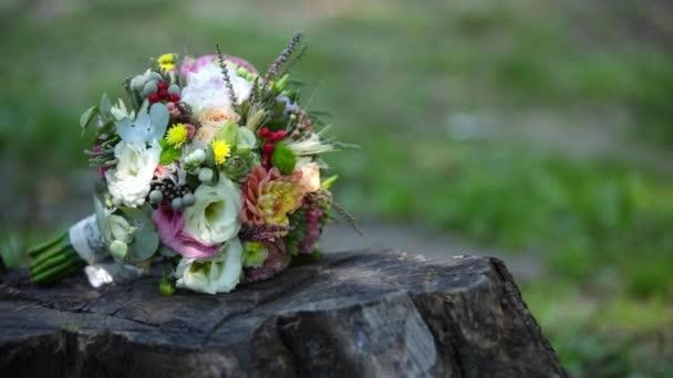 Svatební kytice, květiny, růže, krásnou kytici