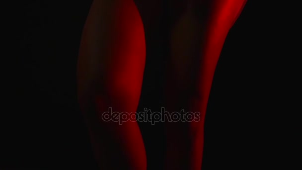 Sexy womans legs in Night background