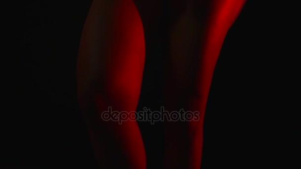 Sexy Frauen Beine in Nacht Hintergrund
