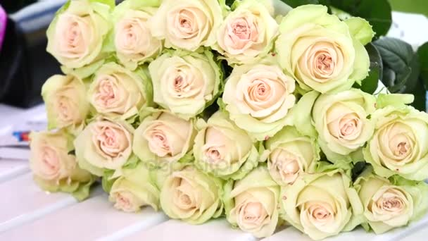 Set of bouquet white rose