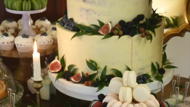 A Traditional And Decorative Wedding Cake At Wedding Reception
