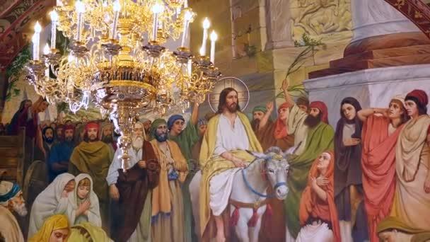 Interiérové dekorace. Freska z církevní Rady, Interiér katedrály