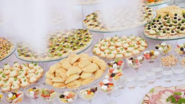 bufet, tabulka, jídlo, hostina, ovoce, maso