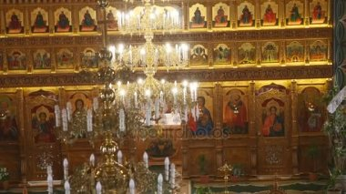 Interieur decoratie fresco van kerk raad afbeelding van een