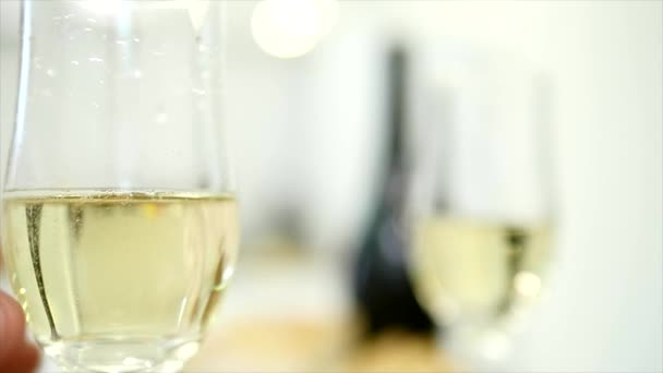 Young couple have romantic dinner with champagne. Romantic concept. close up. selective focus