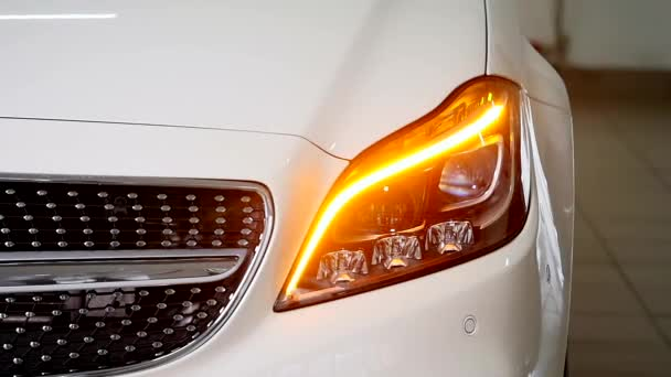Close-up of a cars headlights