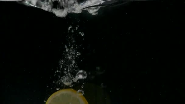 Juicy lemon and water splash