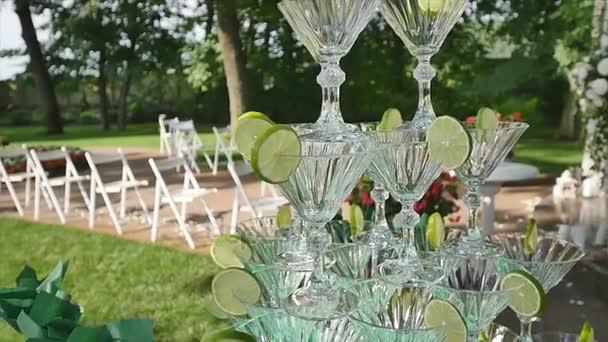 wedding ceremony decoration, wedding arch glasses
