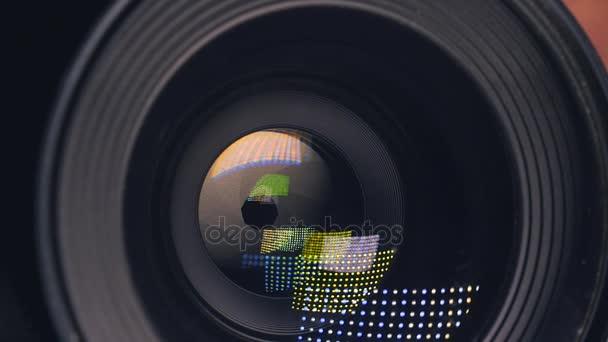 A lencse a kamera. Közeli kép: