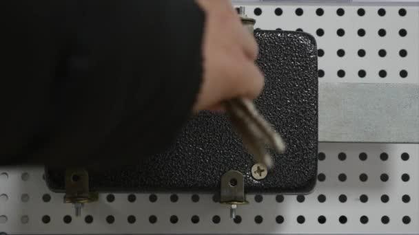 Detail se doma dveře vysoké bezpečnostní zámek