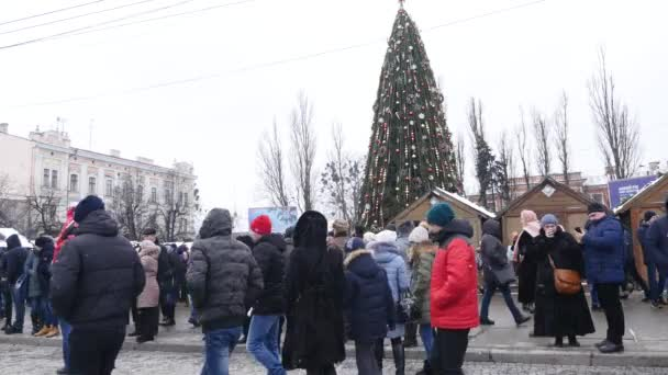 Chernivtsi - Ukraine - January 15, 2018 The traditional annual days of Christmas folklore-ethnographic festival Malanka Fest 2018 n the Ukrainian city of Chernivtsi