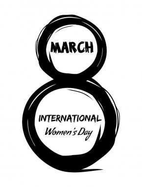 8th March. International Womens Day. Grunge design elements for Womens Day