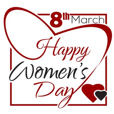 Happy Womens Day. Typographic design. Womens Day lettering card