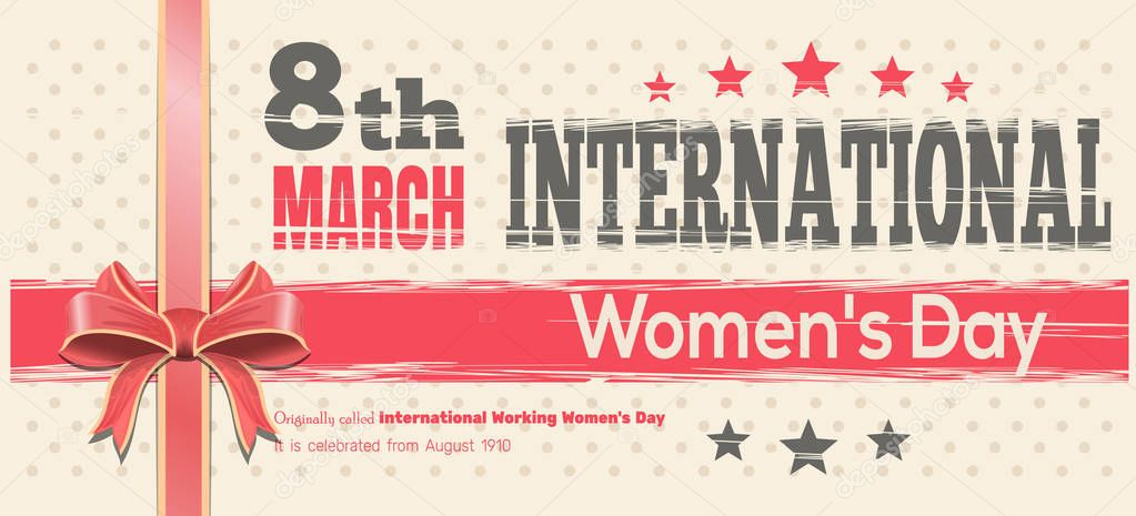 International Women's Day. Celebrate the Power of Women on 8th March