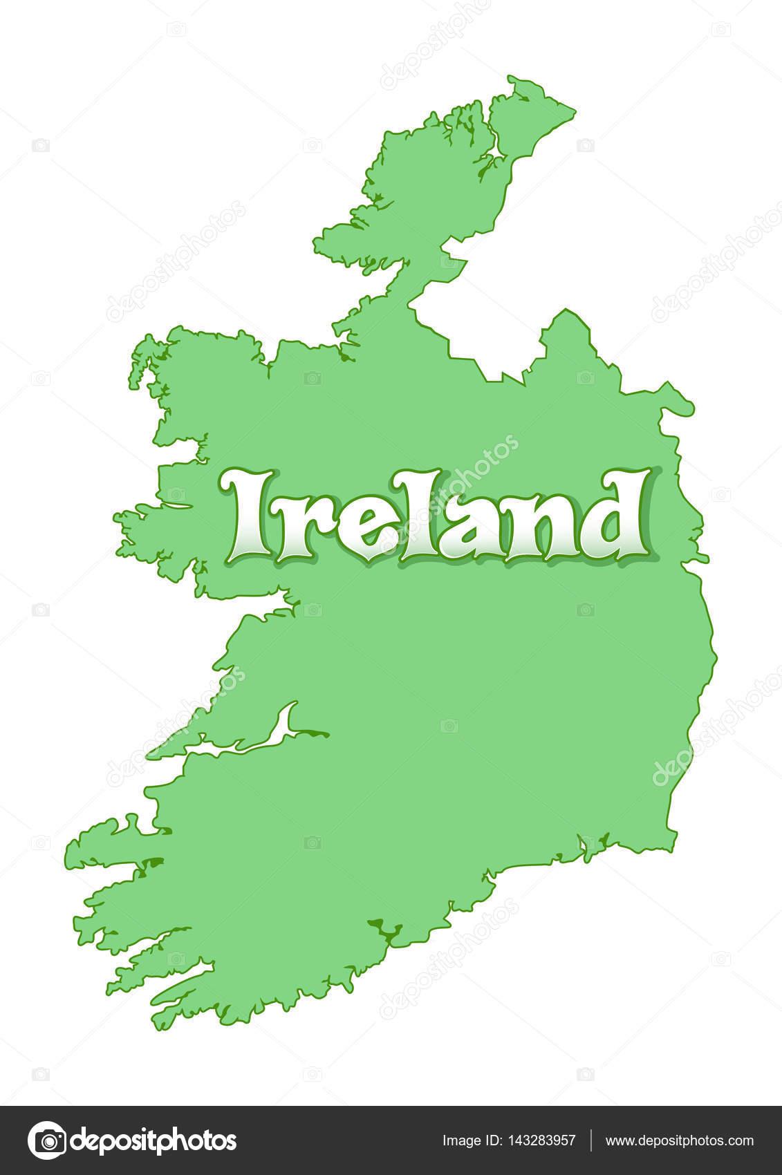 Map Of Ireland Golf.Map Of Ireland Green Ireland Map Isolated On White Background