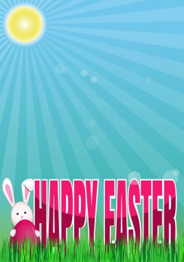 Happy Easter. Spring background. Vector spring Easter illustration