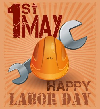 International Labor Day. 1st May. Retro poster