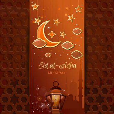 Islamic design for Eid al-Adha. Sacrifice Festival