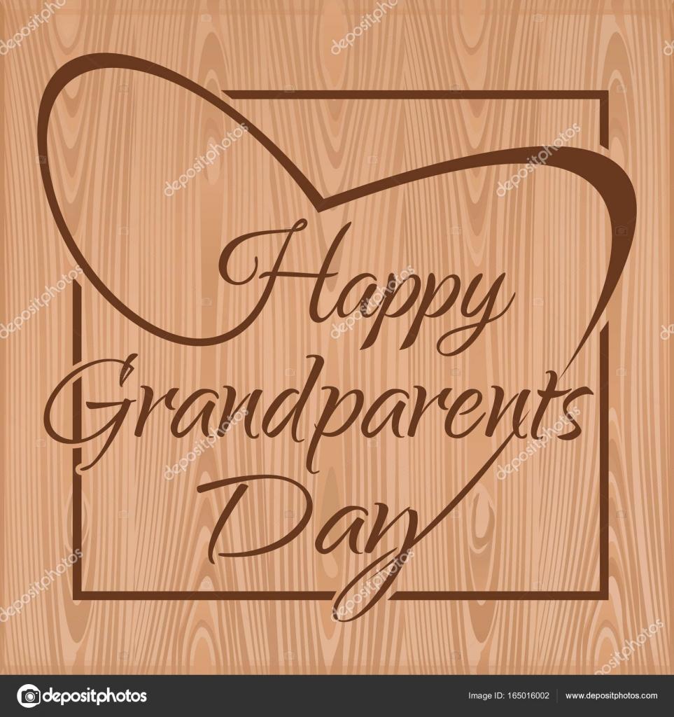 Glückliche Großeltern-Tag-Schriftzug — Stockvektor © kiberstalker ...