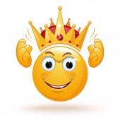 Král emotikonu nosí korunu