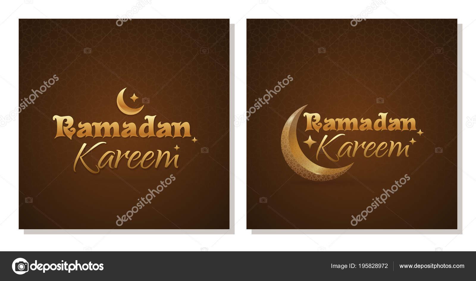 Greeting card set ramadan kareem traditional wish islamic symbol greeting card set ramadan kareem traditional wish islamic symbol crescent stock vector m4hsunfo