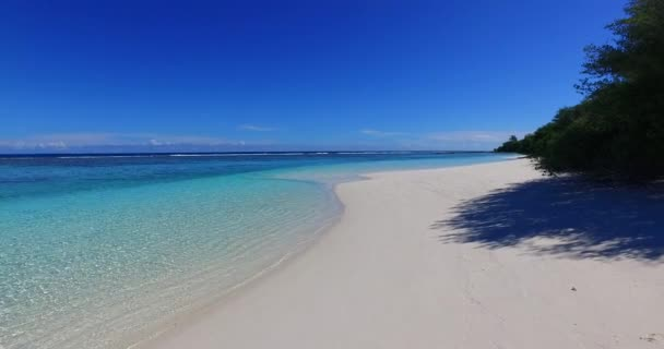 v02022 Maldives beautiful beach background white sandy tropical paradise island with blue sky sea water ocean 4k