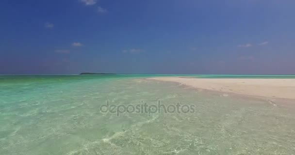 v02172 Maldives beautiful beach background white sandy tropical paradise island with blue sky sea water ocean 4k