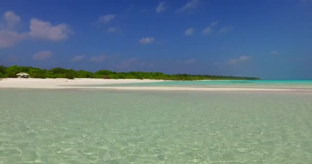 v02228 Maldives beautiful beach background white sandy tropical paradise island with blue sky sea water ocean 4k