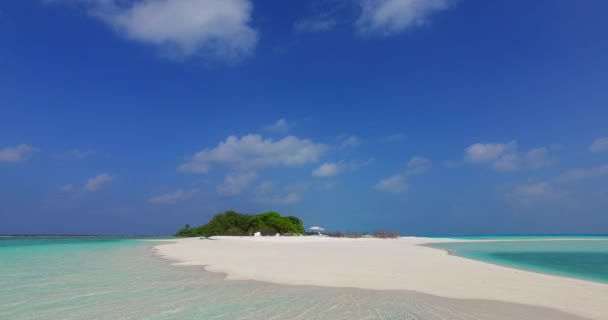 v02265 Maldives beautiful beach background white sandy tropical paradise island with blue sky sea water ocean 4k