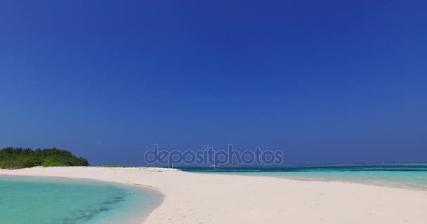 v02321 Maldives beautiful beach background white sandy tropical paradise island with blue sky sea water ocean 4k