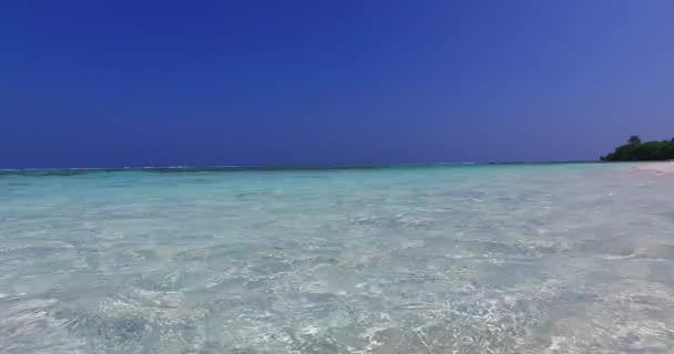 v01024 Maldives beautiful beach background white sandy tropical paradise island with blue sky sea water ocean 4k