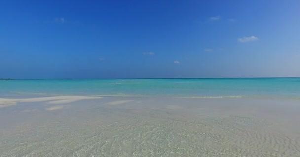 v01066 Maledivy krásné pláže pozadí bílé písečné tropický ráj ostrov s modrou oblohu moře vody oceánu 4k