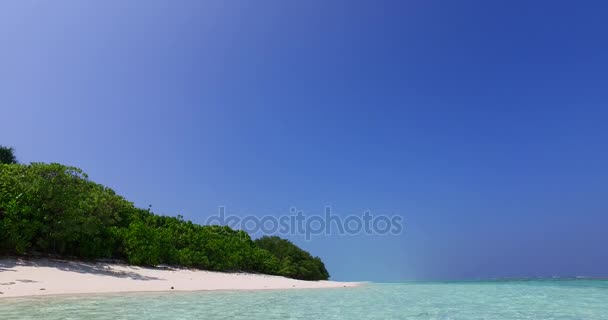 v01214 Maldives beautiful beach background white sandy tropical paradise island with blue sky sea water ocean 4k