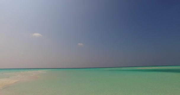 v01316 Maldives beautiful beach background white sandy tropical paradise island with blue sky sea water ocean 4k
