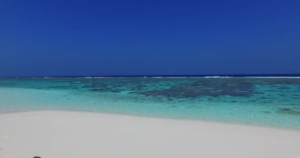 v01404 Maldives beautiful beach background white sandy tropical paradise island with blue sky sea water ocean 4k