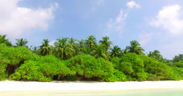 v01512 Maldives beautiful beach background white sandy tropical paradise island with blue sky sea water ocean 4k
