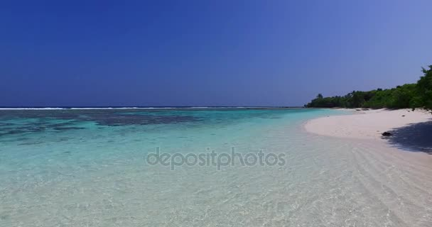 v01682 Maldives beautiful beach background white sandy tropical paradise island with blue sky sea water ocean 4k