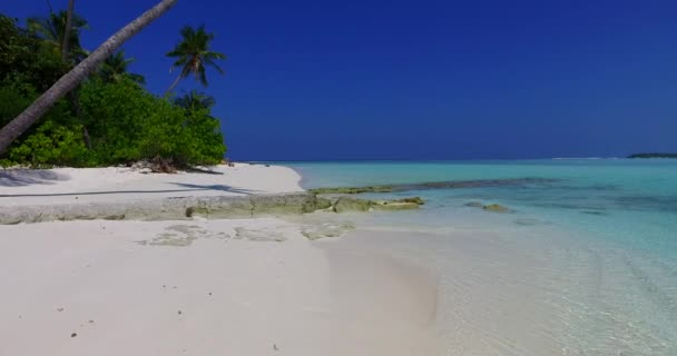 v01788 Maldives beautiful beach background white sandy tropical paradise island with blue sky sea water ocean 4k