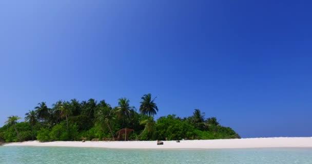 v01978 Maledivy krásné pláže pozadí bílé písečné tropický ráj ostrov s modrou oblohu moře vody oceánu 4k