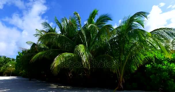 v00060 Maledivy krásné pláže pozadí bílé písečné tropický ráj ostrov s modrou oblohu moře vody oceánu 4k palmy