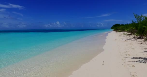 v00300 Maldives beautiful beach background white sandy tropical paradise island with blue sky sea water ocean 4k