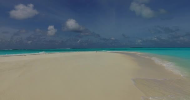 v00980 Maldives beautiful beach background white sandy tropical paradise island with blue sky sea water ocean 4k