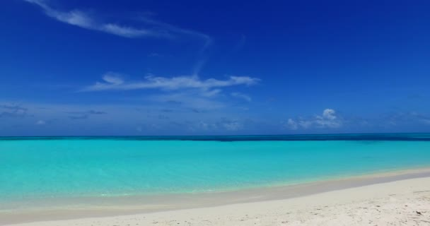 v00990 Maldives beautiful beach background white sandy tropical paradise island with blue sky sea water ocean 4k