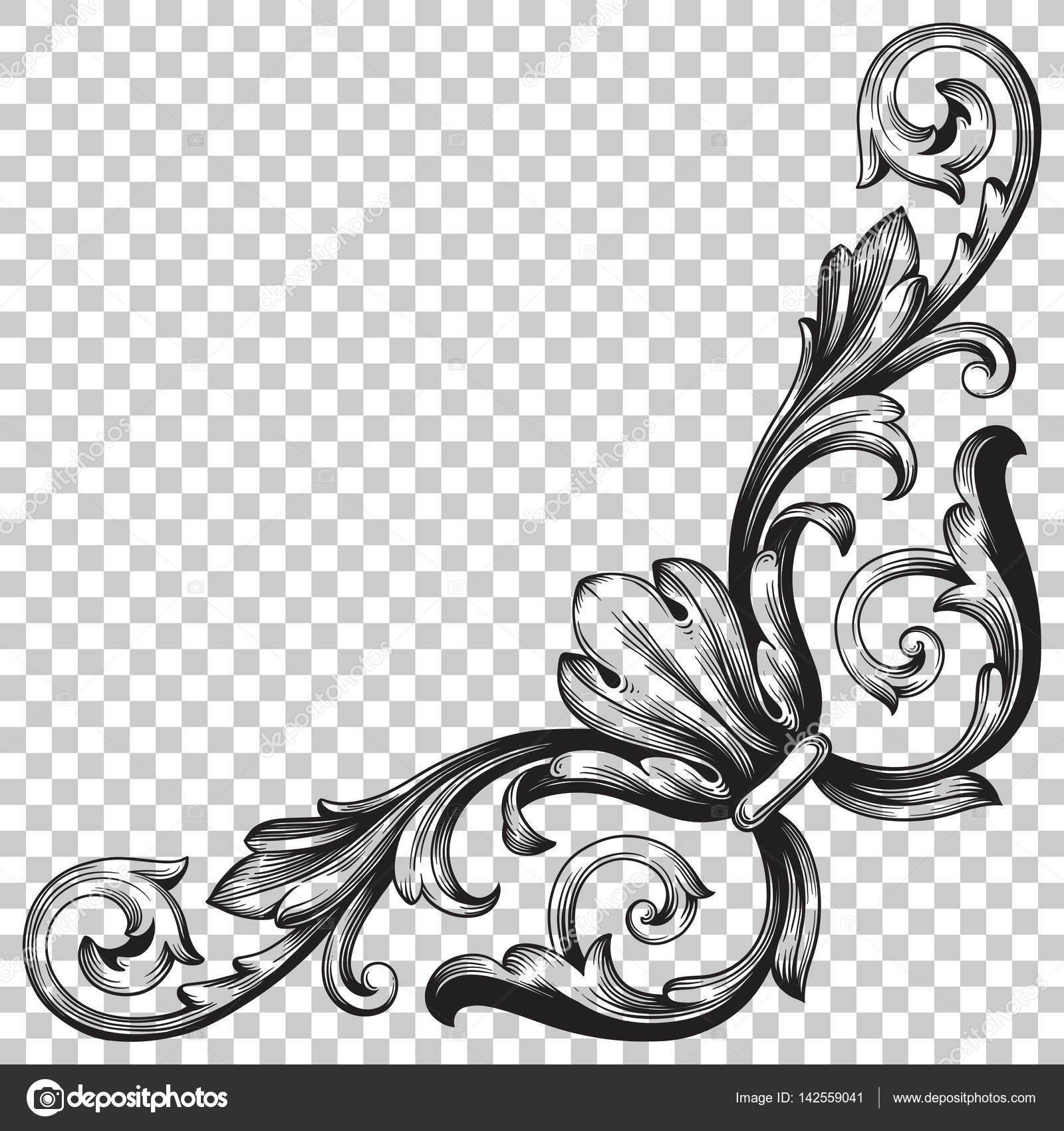 Corner baroque ornament decoration element stock vector isolate vintage corner baroque ornament retro pattern antique style acanthus decorative design element filigree calligraphy vector you can use for wedding junglespirit Image collections