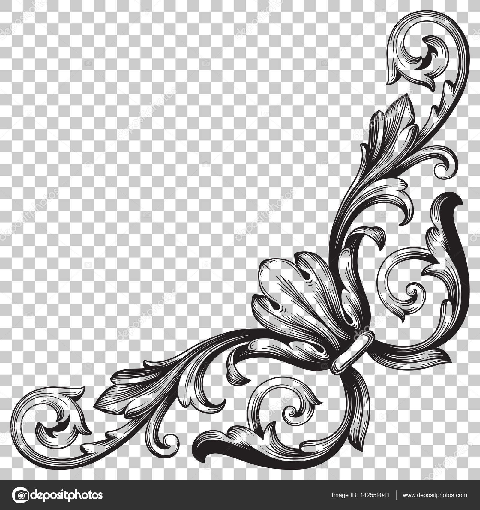 Corner baroque ornament decoration element stock vector isolate vintage corner baroque ornament retro pattern antique style acanthus decorative design element filigree calligraphy vector you can use for wedding junglespirit Choice Image