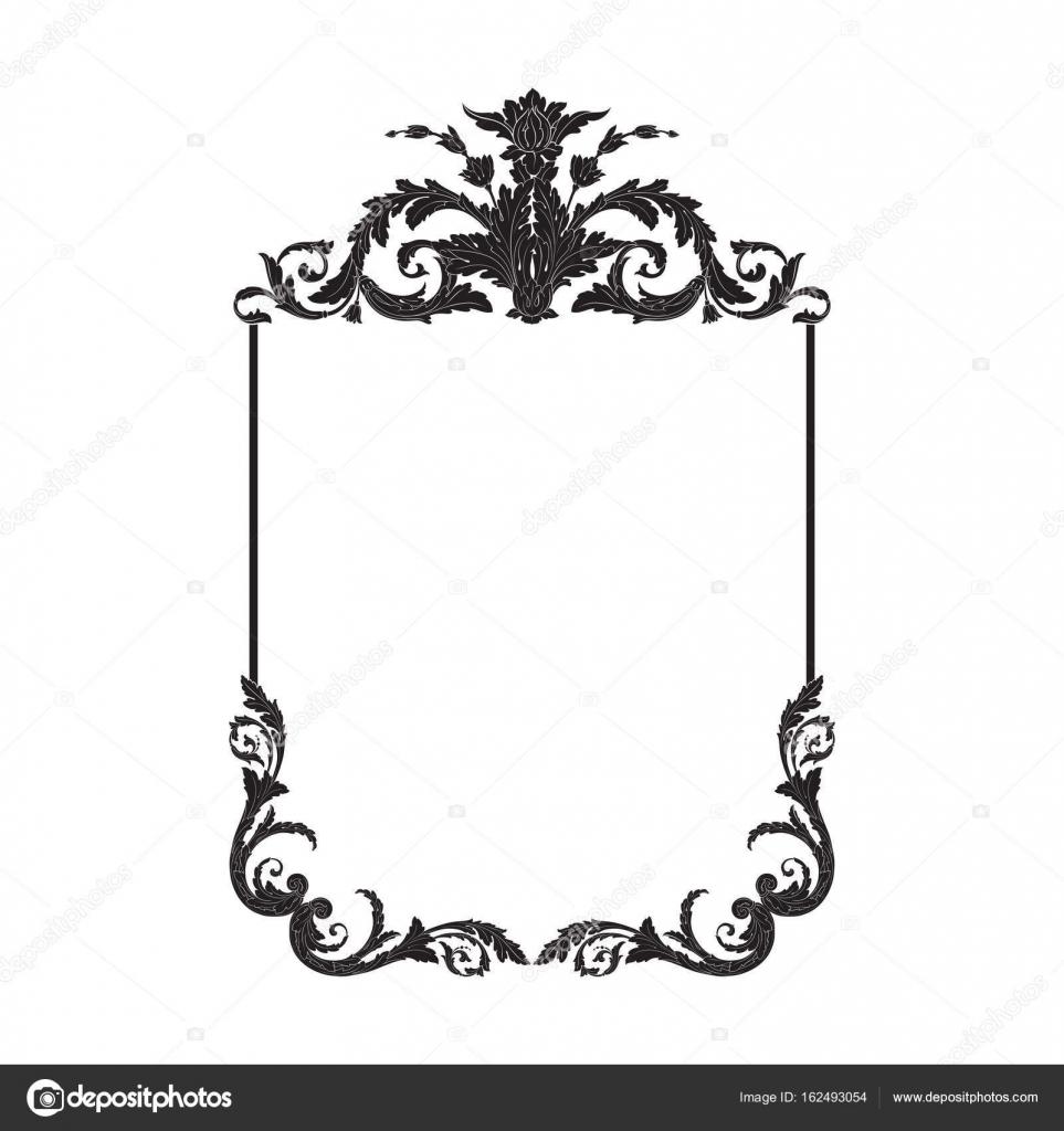 Vintage baroque frame scroll ornament — Stock Vector © AcantStudio ...