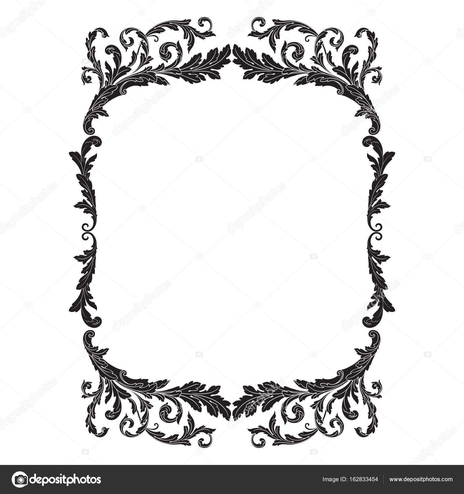 Ornament Rahmen, Grenze — Stockvektor © AcantStudio #162833454